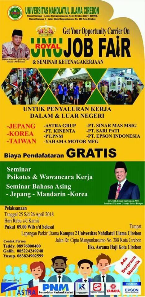 Joba Fair Cirebon Bursa Kerja Cirebon GRATIS