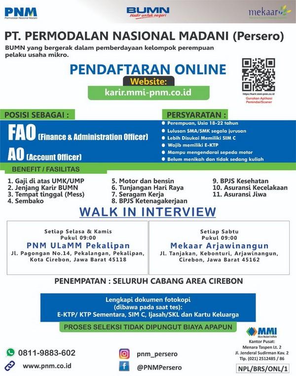 Rekrutmen pegawai BUMN PT. PNM (Persero)