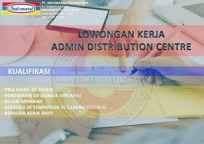 Lowongan kerja Admin Distributor Center Indomaret