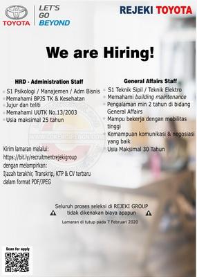 HRD Administration & General Affairs Rejeki Toyota