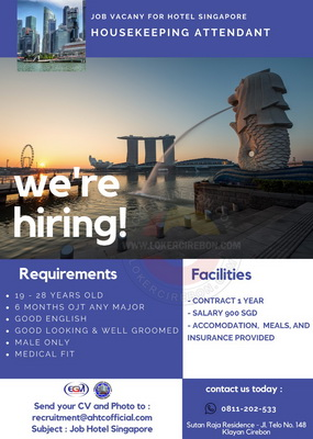 Job vacany for Hotel Singapore