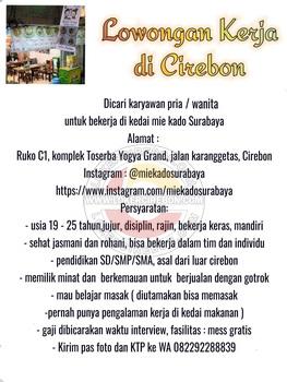 Mie kado surabaya Cirebon