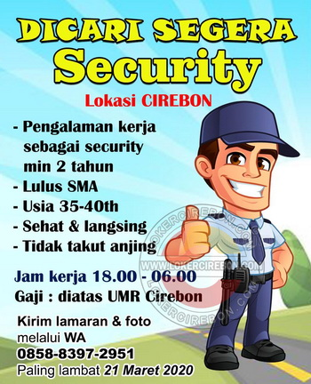 Lowongan Kerja Security Perumahan Di Cirebon