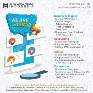 Lowongan Kerja Cv Mahasiswa Preneur Indonesia